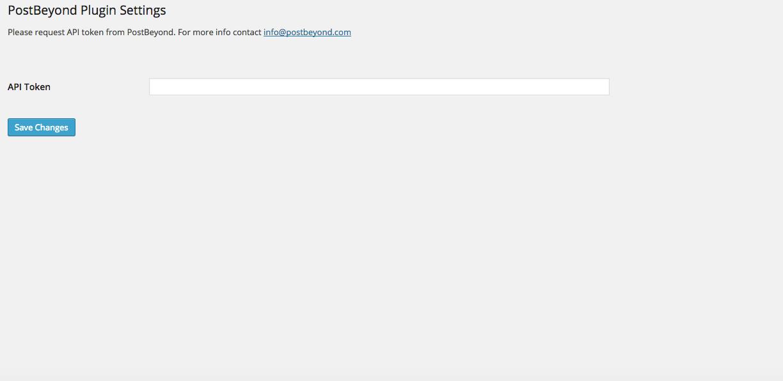 Enable PostBeyond API Token employee advocacy WordPress plugin