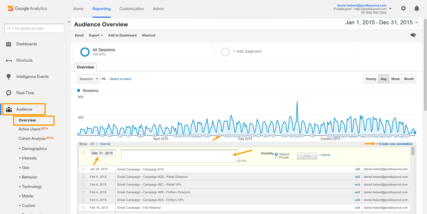 measure employee advocacy Add Annotations to Google Analytics