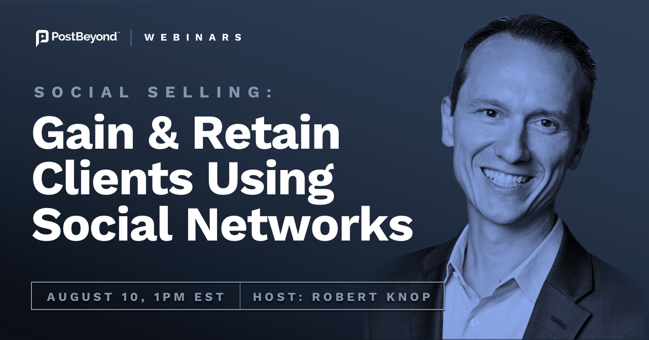 social selling webinar with robert knop