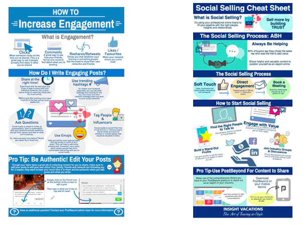 TTC Employee Advocacy Social Selling infographics