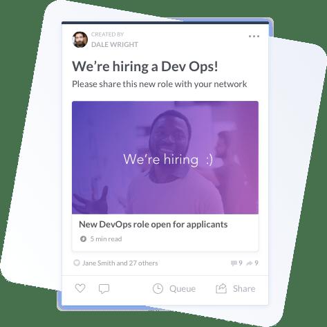 Social recruiting through PostBeyond