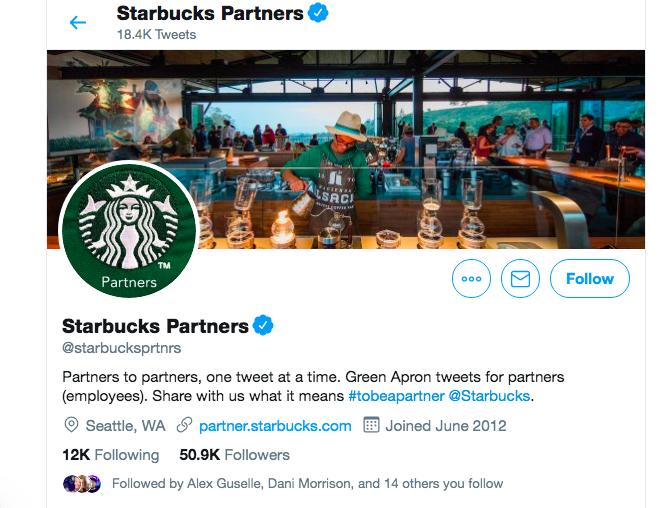 Starbucks EGC Partner Twitter