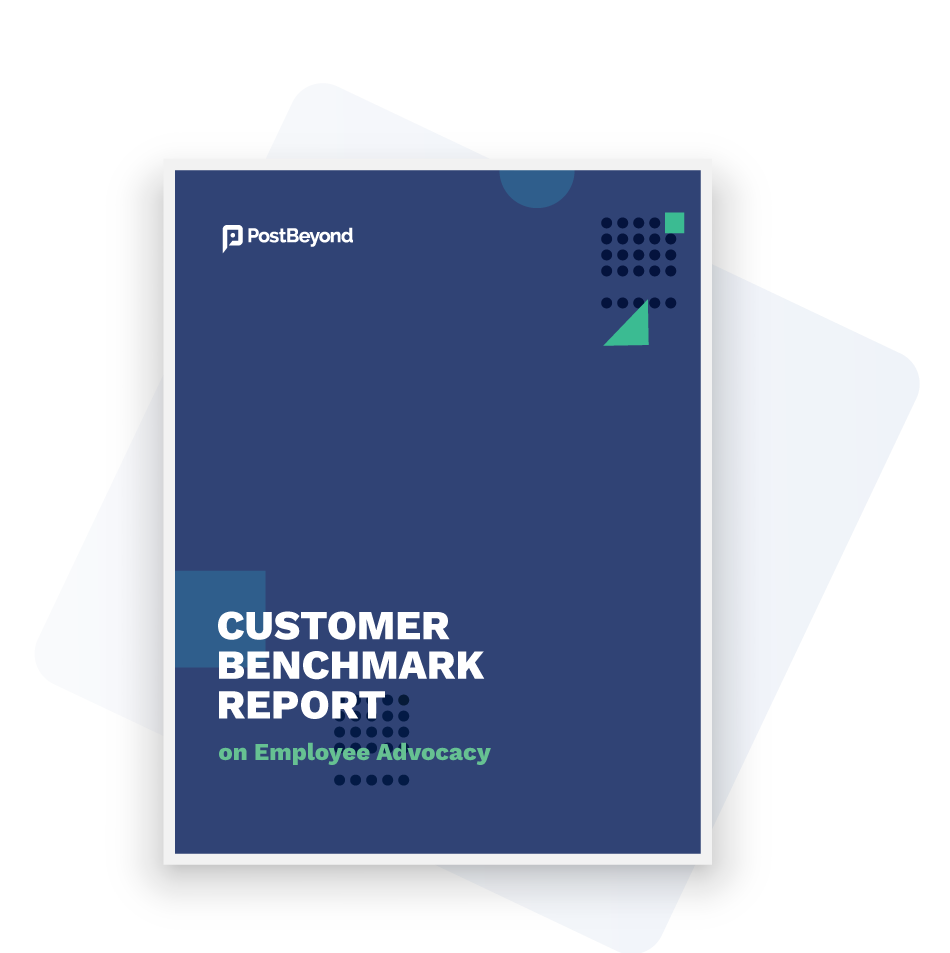 Customer benchmark report on employee advocacy for different industries
