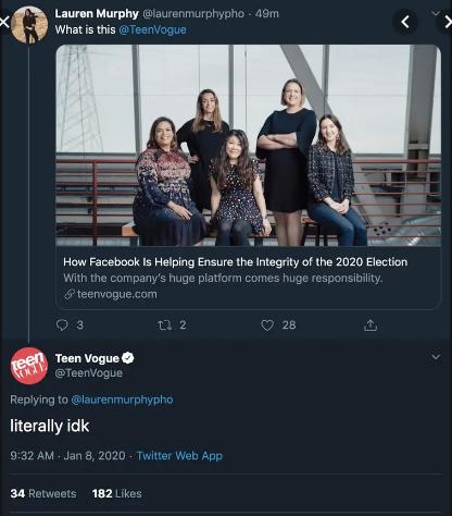 Teen Vogue flop on social media