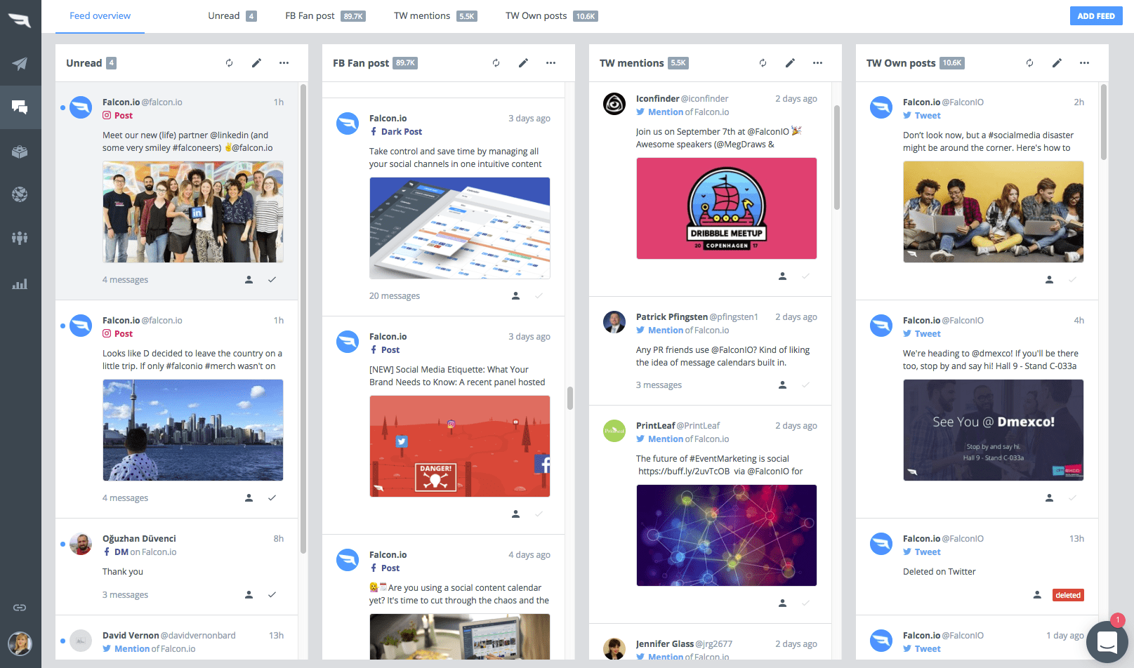 Falcon.io social media listening