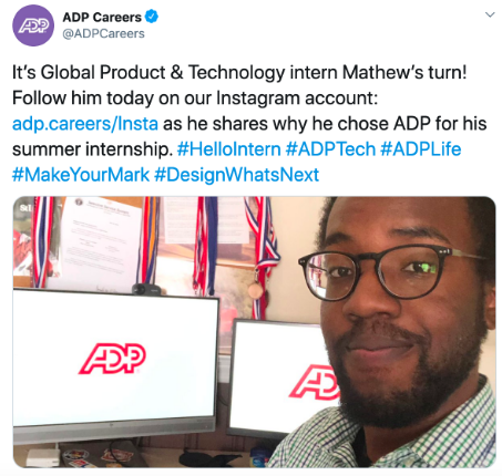 ADP Careers post on Twitter