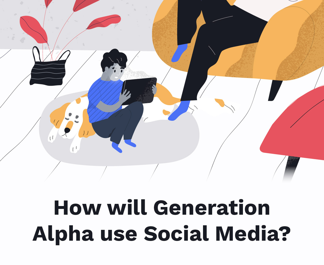 New data and graphic that reveals how generation alpha will be using the internet.