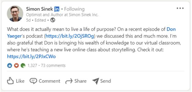 Simon Sinek thought leadership