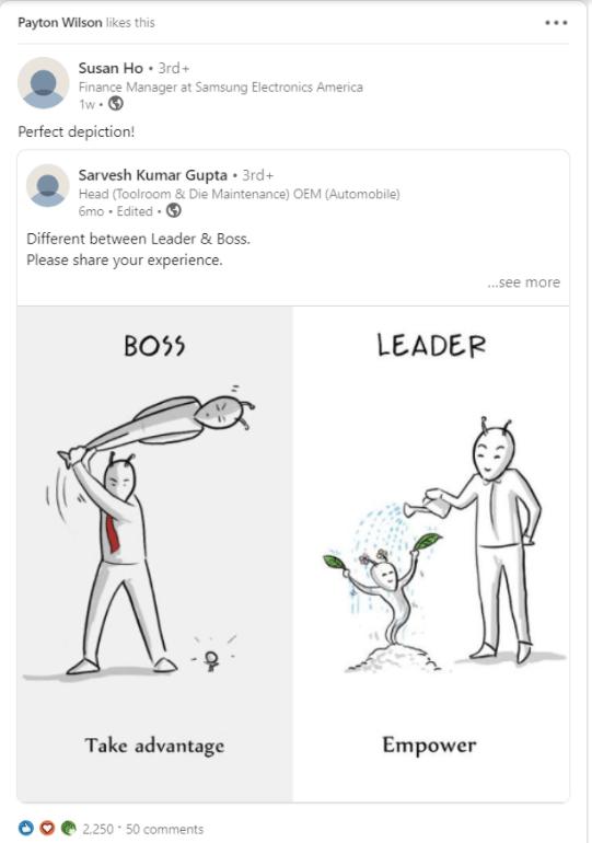 LinkedIn stacked posts