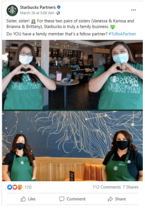 Starbucks example of employee advocacy