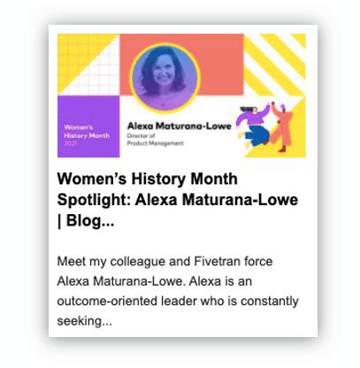 Fivetran women's month content