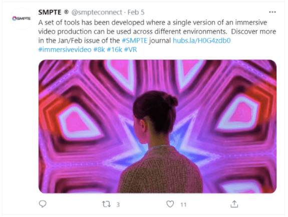 SMPTE social media post